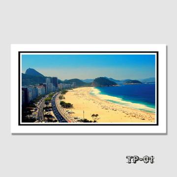 Quadro Copacabana Rio de Janeiro 70x40cm Cidades Decoracao