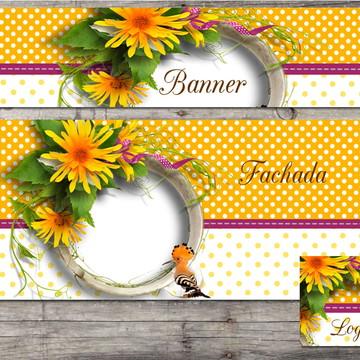 kit Elo7 floral yellow (BAZAR)