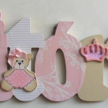Vitória princesa rosa nome decorado