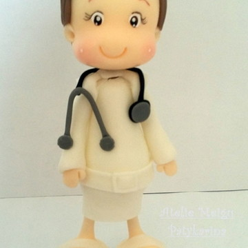 Topo de Bolo Personalizado Medica