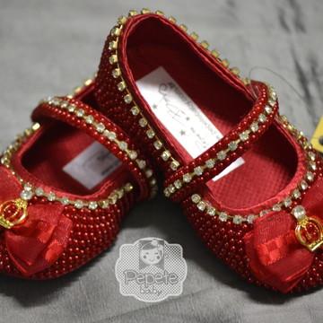 Sapatinho Princesa Vermelho CETIM