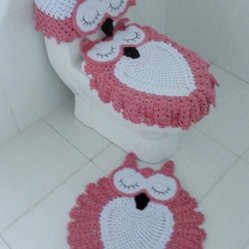 Jogo de banheiro corujas dorminhocas