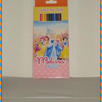 Lápis de cor das princesas