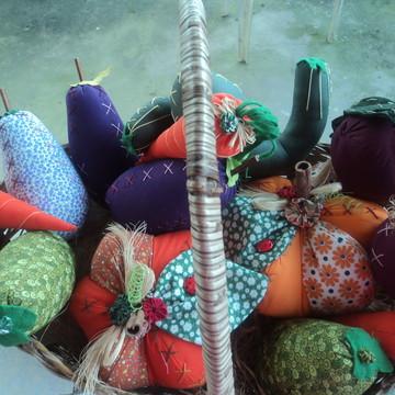 Kit de verduras de tecido colorido