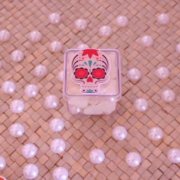 Caixinha de acrílico com adesivo – caveira mexicana