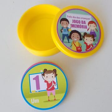 Lembrança dia das crianças jogo memória