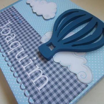 Álbum scrapbook Primeiras Visitas Balão