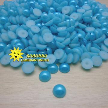 Meia Pérola - Azul - 8mm - (200uns)