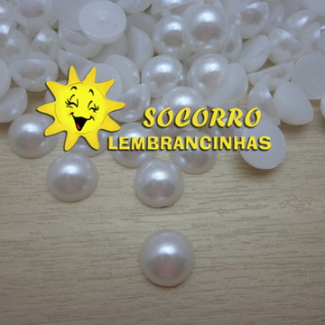 Meia Pérola - Branca - 12mm - 100 uns