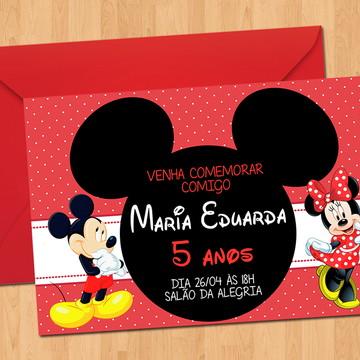 Convite - Aniversário Minnie e Mickey