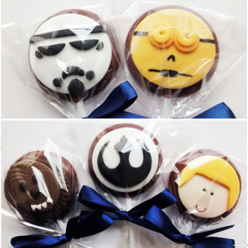 Pirulito de chocolate Star Wars