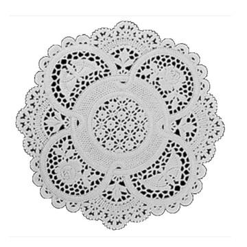 Doilie / Papel rendado Branco 25 cm