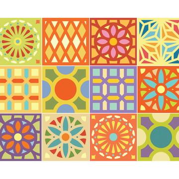 Adesivos Cobogó para Azulejo 15 x 15 cm