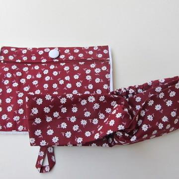 toalhinha com ziper e faixa turbante