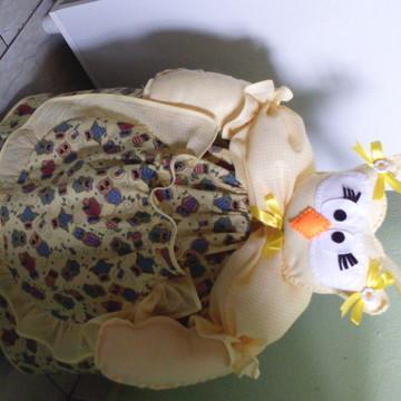 capa de botijao de gás corujinha