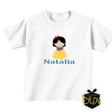 Camiseta Personalizada Branca de Neve