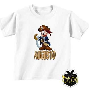 Camiseta Personalizada Mickey Pirata
