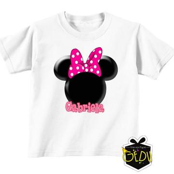 Camiseta Personalizada Minnie Rosa