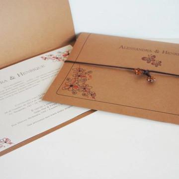 Convite de Casamento Primavera 2 - Rustico