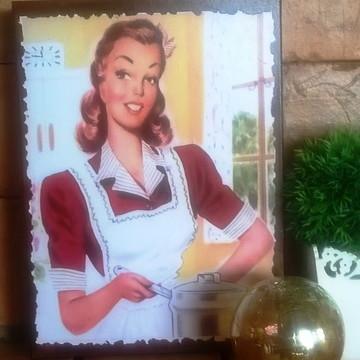 Quadro Vintage - Cozinheira