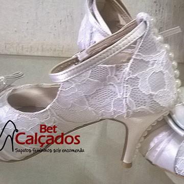 Sapato noiva renda Encanto