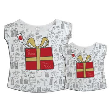T-shirts Mãe e Filha Presente de Natal
