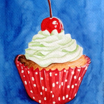 Ilustração Cupcake 1 (original)