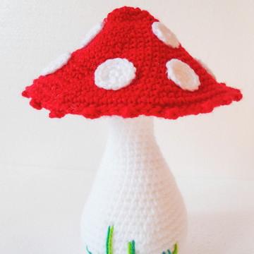 Amigurumi Cogumelo Branco