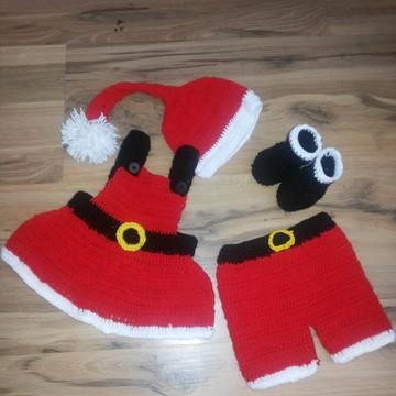 roupinha de croche do natal