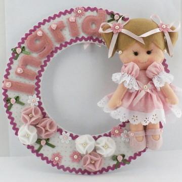Guirlanda Feltro Boneca Porta Maternidade