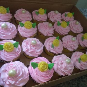 Cupcakes - Pérolas e Rosas