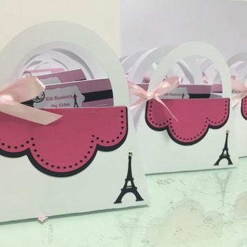 Caixa formato bolsa tema Paris