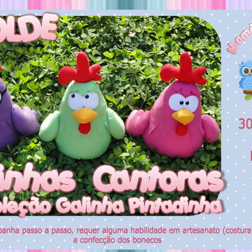 Molde Trio de Galinhas Cantoras