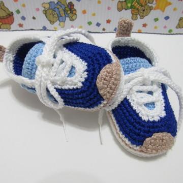 36de75c0034 Sapatinho de Croche Nike