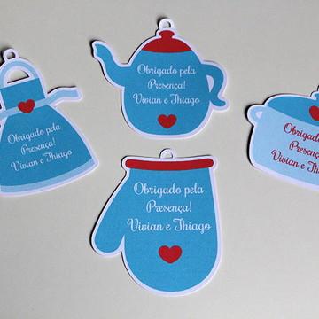 Tag para lembrança Chá de Panela