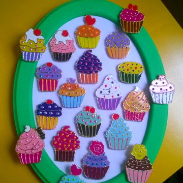 Imãs Cupcake
