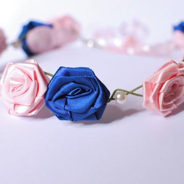 Guirlanda Adulto Rosa e Azul
