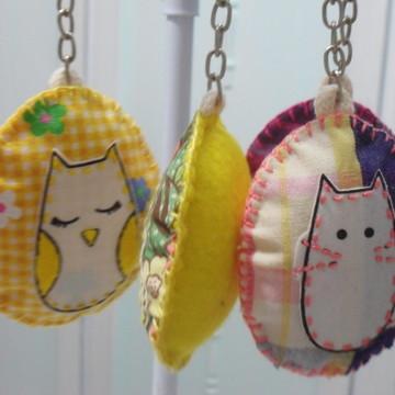 Chaveiros de gato/ coruja