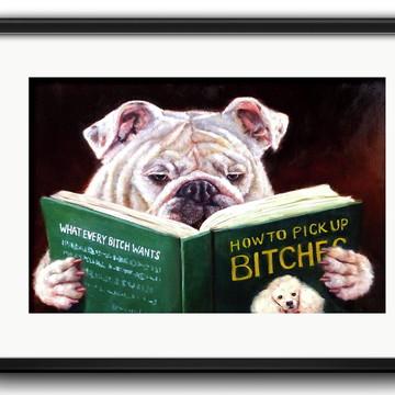Quadro Bulldog Inglês com Paspatur