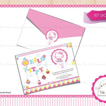 Convite - Confeitaria da Hello Kitty