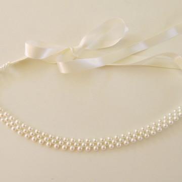 headband noiva tiara faixa perola