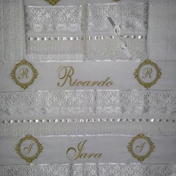 Jogo de toalhas casal personalizadas