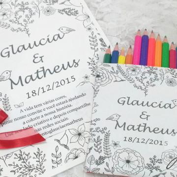 Convite de Casamento Livro de Colorir
