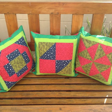 Capa almofada patchwork natal