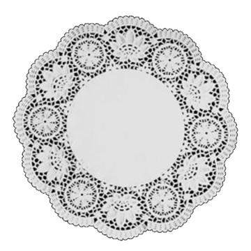 Doilie / Papel rendado Branco 27 cm