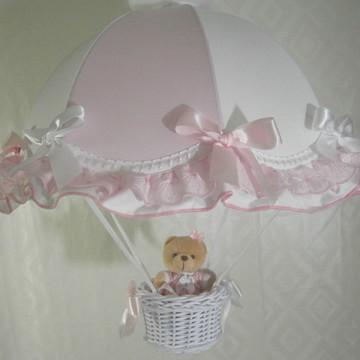 Lustre paraquedas infantil pendente