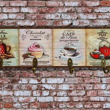 Cabideiro / Porta-chaves Café e Chá