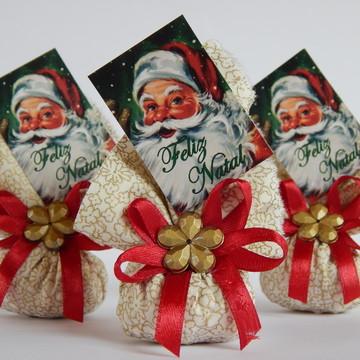 Lembrancinhas de Natal Sache com Cartão