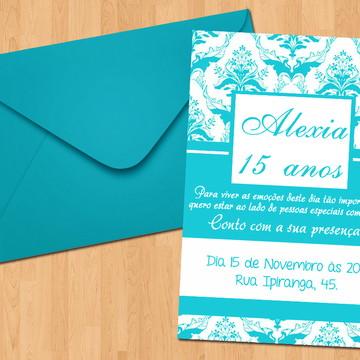 Convite - 15 Anos Azul Tiffany