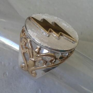 Anel Raio de Iansa em prata com dealhes